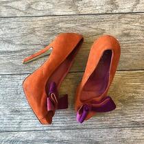 Women's Jeffrey Campbell Garret Pump Heels Shoe Size 6 M Orange Purple Pink Ab9 Photo