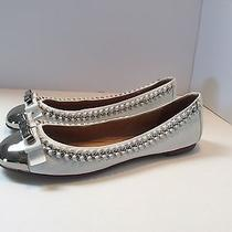 Women's Jeffrey Campbell Ibiza 'Carrie b' White Leather W/chrome Skimmers Size 7 Photo