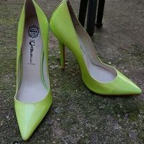 Women's Jeffrey Campbell Ibiza Lime Green Patent Leather Heels Size 7 Photo