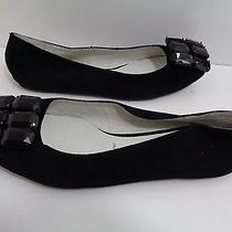 Women's Jeffrey Campbell 'Six-Up' Suede Flats in Black Size 8.5m Photo