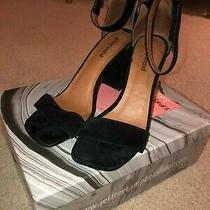 Women's Jeffrey Campbell Suede Holvey Black Heels Size 9.5 Photo