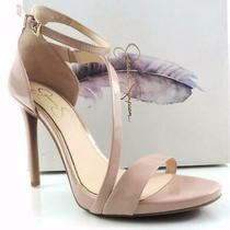 Women's Jessica Simpson Rayli Ankle Strap Sandal Heels Nude Blush Patent Size 10 Photo