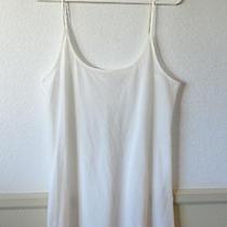 Women's Joie White Spaghetti Strap Sleepwear Nighty Size L Photo