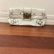 Women's Juicy Corture White Patent Leather  Studded Clasp Closure Wallet Clutch Photo