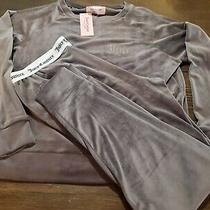 Womens Juicy Couture Stretch Velour Casual Loungewear Jogger Set Photo