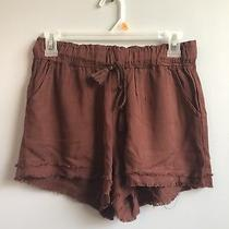 Womens Junior Charlotte Russe Rewash Red Soft Casual Shorts Summer Small Boho Photo