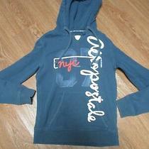 Women's Junior Girls Size S Aeropostale Blue Hoodie Jacket Sweatshirt Soft Photo