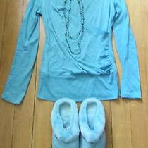 Women's/junior's Body Central Top W/ Necklace & Avon Slippers-Size S & M (7-8) Photo