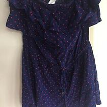 Women's/juniors Aeropostale Strapless Blue/red Star Romper Size X-Small Photo
