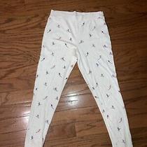 Womens Juniors Love by Gap Medium Ski Print Pajama Lounge Pants White Photo