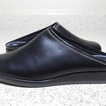 Women's Keds Black Leather Mules Size 8m New Without Box Photo