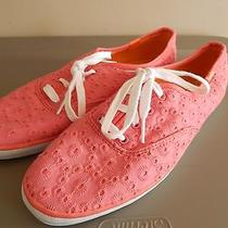 Women's Keds - Coral Eyelet Design - Like New- Size 9  Photo
