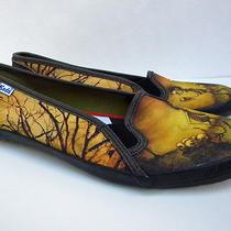 Women's Keds Custom Canvas Slip Ons Sneakers Size 7 Photo