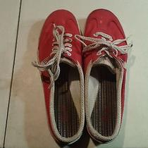 Women's Keds Red Casual Size 10 Shoes Lace Up Laces Photo