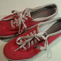 Women's Keds Red Slip on Flats Casual Size 10 Shoes Lace Up Laces Photo