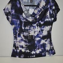 Women's Kenneth Cole Ink Blot Tunic Front Draped Top Size Small New With Tags  Photo