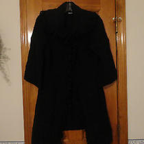 Women's Kensie Black Fringe Cardigan - Medium - Never Worn Photo
