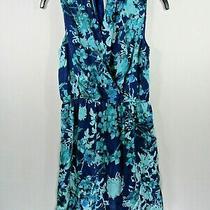 Women's Kensie Juniors Size Xs Blue Green Floral Sleeveless Dress Photo