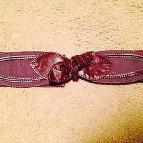 Women's Kimchi Blue Urban Outfitters Faux Leather Stretch Wide Belt Sz M/l Photo
