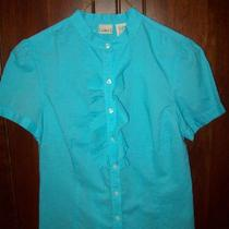 Women's L.l. Bean Shirt Aqua Color New Size M Photo