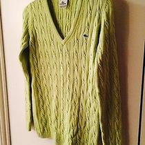 Women's Lacoste v Neck Sweater Size 40 Photo