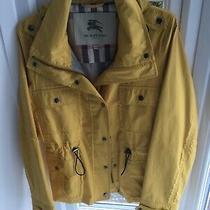 Women's Ladies Burberry Rain Coat/ Jacket Yellow Size M Uk10 Nova Check 203 Photo