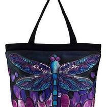 Women's Ladies Distinctive Artwork Dragonfly Tote Bag Inside Cell Pocket Purse  Photo