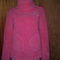 Women's - Ladies - Older Girl's Roxy Pink Fluffy Polo Neck Sweater Jumper Sz 8 Photo