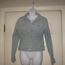 Women's Land End Aqua Colored Corduroy Jacket Size Medium  Photo