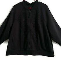 Women's Lane Bryant Livi Plus Size Activewear Jacket Black Size 26/28 Photo