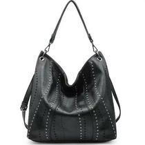 Womens Large Black Hobo Handbag Should Bag Crossbody Tote Purse Adjustable Photo
