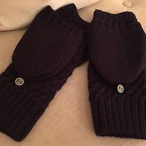 Women's Large Under Armour Mitten Running Gloves Athletic Snow Coffee Run Photo