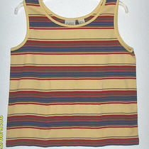 Women's Large Yellow Multi-Color Striped Top (Classic Elements) Photo