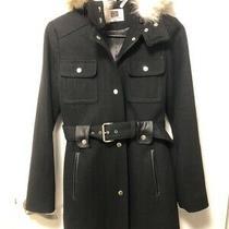Women's Laundry by Shelli Segal Black Wool Coat Size Xs Photo