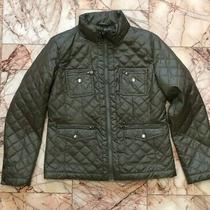 Women's Laundry by Shelli Segal Quilted Jacket Size L Green Photo