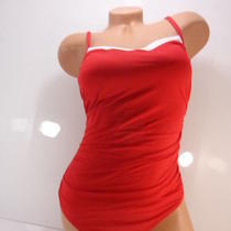 Women's Lauren by Ralph Lauren Bel Aire Lingerie Slimming Fit One-Piece Red 10 Photo