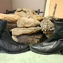 Women's Leather Boots Ankle Black Valarie Stevens