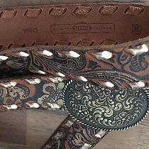 Women's Leather Fossil Belt - Medium Photo