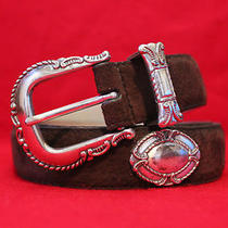 Women's Leather Fossil Belt With Buckle Size Medium Photo