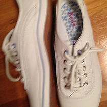 Women's Leather Keds Tennis Shoes White Leather Size 6.5 Euc Photo
