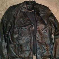 Women's Leather Motorcycle Jacket Photo