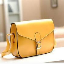 Women's Leather Shoulder Bag Satchel Handbag Tote Purse Hobo messenger& Yellow Photo