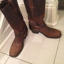 Women's Like Brand New Frye Belted Harness Boots 7.5 Brown Photo