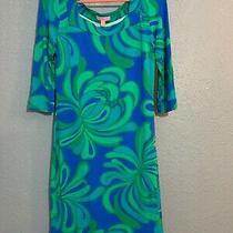 Women's Lilly Pulitzer Dress Green Blue Xs Rayon Blend Photo