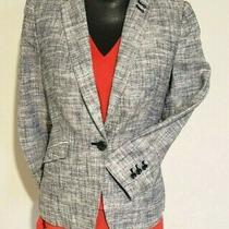 Women's Limited Blazer Size M - Blue Textured Linen Photo