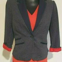 Women's Limited Blazer Size M - Navy Polka Dot Photo