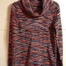 Women's Limited Sweater Medium M Striped With Cowl Neck Acrylic Photo