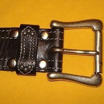 Women's Linea Pelle Brown Genuine Leather Belt Size L. Photo