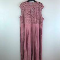 Women's Little Mistress Lace Top Midaxi Pleated Dress Size 22 - Dusty Blush Photo