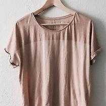 Women's Loft Foiled Dolman T-Shirt Metallic Blush Pink - Medium Photo